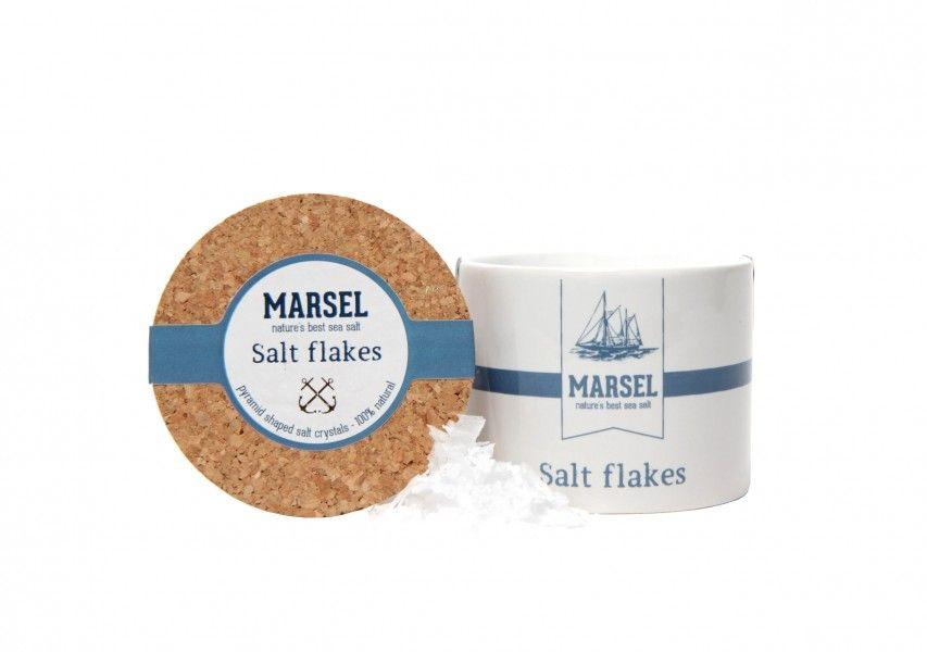 Salt flakes 'MARSEL' in keramieken pot