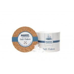 Salt flakes 'MARSEL' in keramieken pot